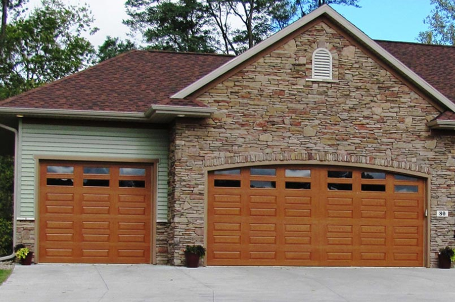 Impression Fiberglass Residential Garage Door